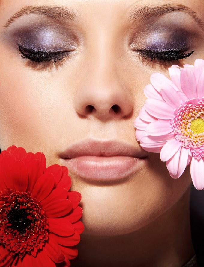 Fleurs maquillage