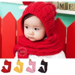 Bonnet echarpe bebe fille