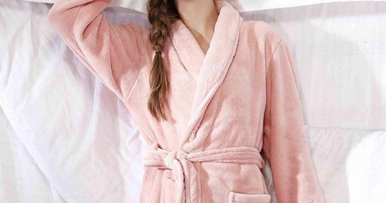 Robe de chambre polaire femme, au chaud tout l'hiver
